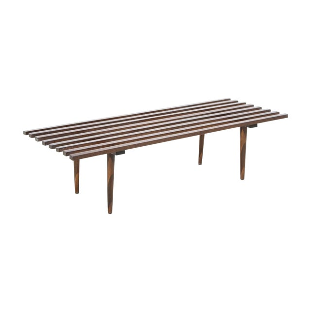 Modern Wood Coffee Table: Modern Wood Slat Coffee Table