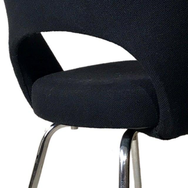 Knoll Eero Saarinen Executive Armchairs in Knoll Black Upholstery - a Pair - Image 3 of 4