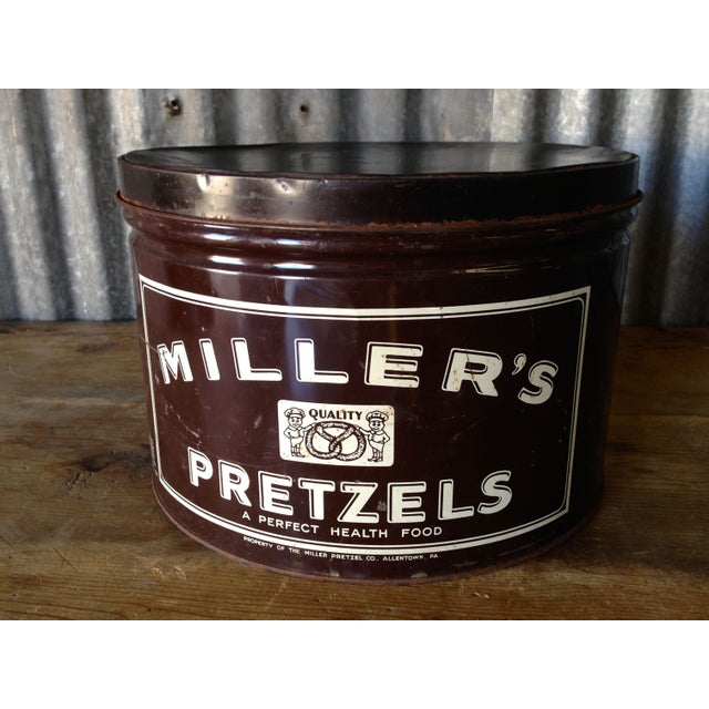 Vintage Millers Pretzels Container - Image 4 of 7