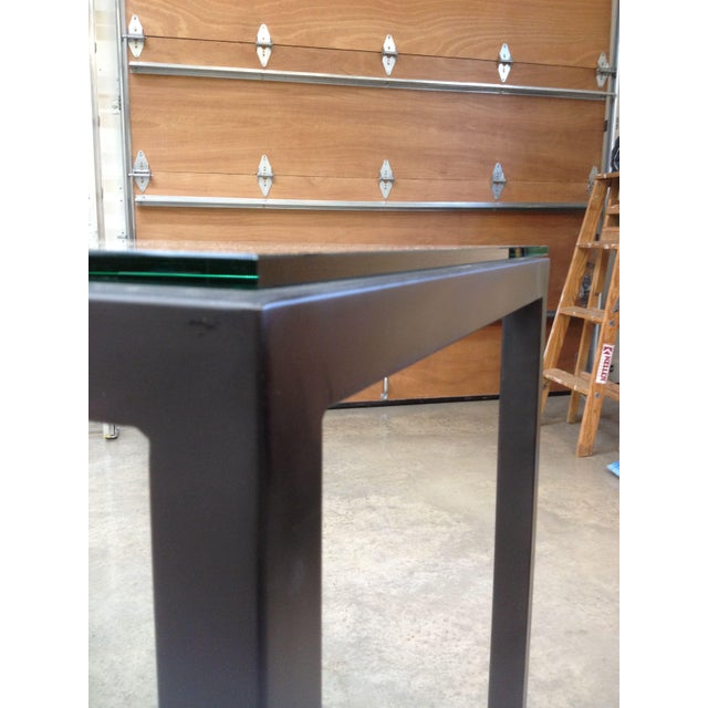 Room & Board Counter Height Steel Parsons Table - Image 3 of 4