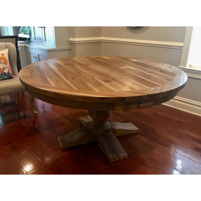 Restoration Hardware Round Dining Table - Image 2 of 5