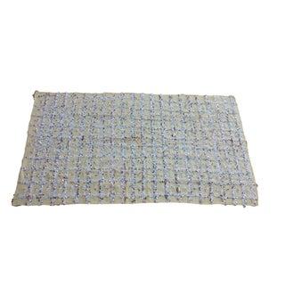 Sequined Wool Moroccan Handira Wedding Blanket - 85 X 48 Inches - New Tamizart