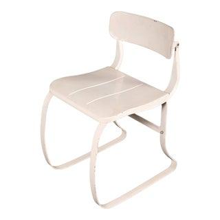 Vintage Industrial Ironrite Metal Health Chair