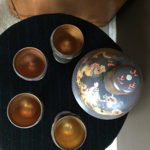 Chinoiserie Barware Set - Image 3 of 6