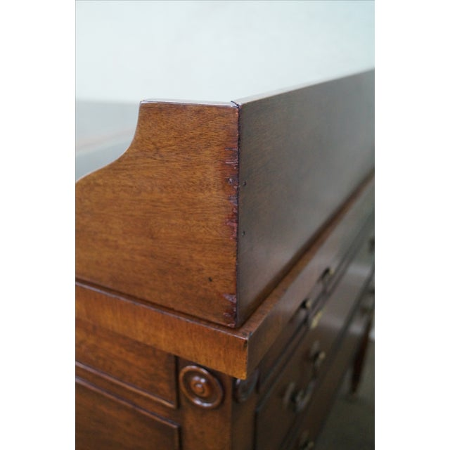 Custom Mahogany Leather Top George Washington Desk - Image 10 of 10