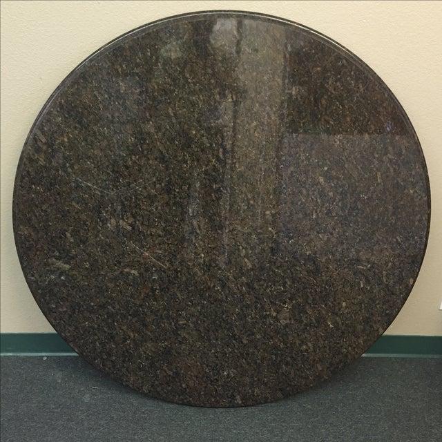"Beveled Black Granite 48"" Round - Image 5 of 8"