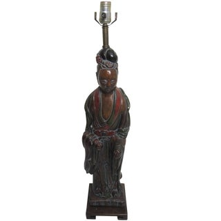 James Mont-Style Asian Figural Lamp