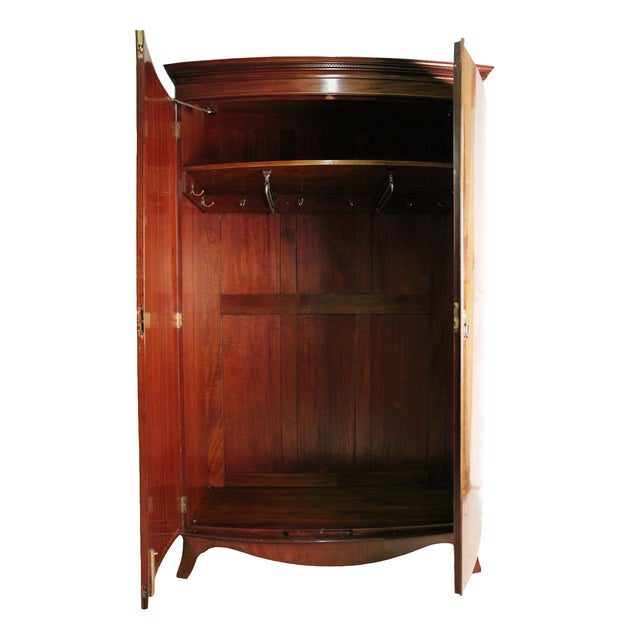 john watts english armoire chairish. Black Bedroom Furniture Sets. Home Design Ideas
