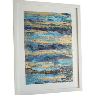 """Framed Goldleaf on Paper -  7"""" x 10"""""""