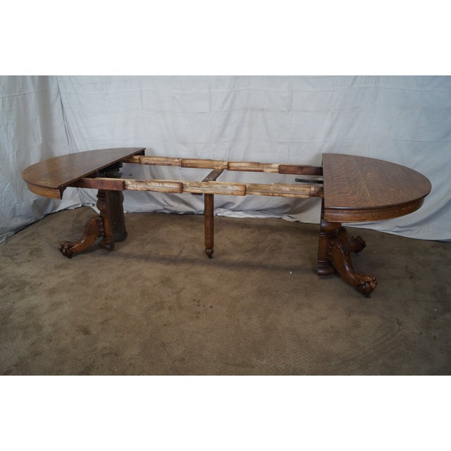 Antique Hastings Round Oak Claw Foot Dining Table Chairish