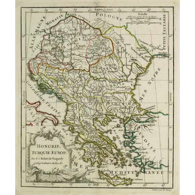 Antique Map Hungary & Balkans, 1778 - Image 1 of 3