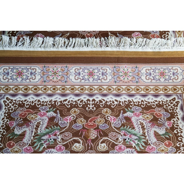 """Hand Knotted Wool Oriental Dragon Rug - 6' x 10'2"""" - Image 7 of 8"""