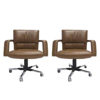 Mario Bellini for Vitra Leather Swivel and Tilt Executive Desk or Office Chair