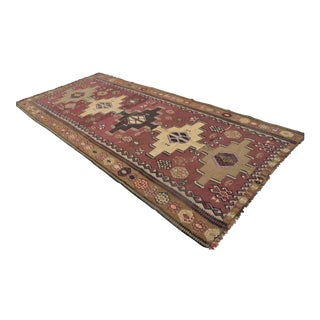 Vintage Turkish Kilim Area Rug - 5′5″ × 12′