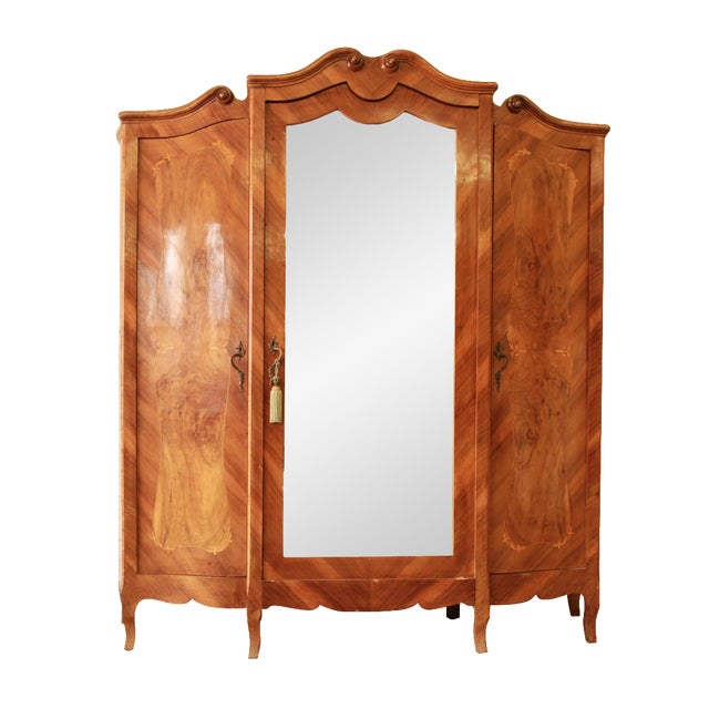 1870's Burled and Inlaid French Knockdown Wardrobe - Image 1 of 11