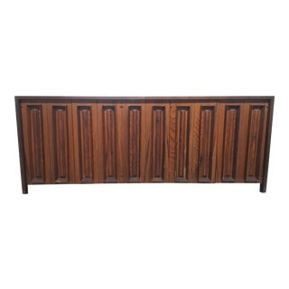 Mid-Century Cypress and Walnut Credenza by Dillingham