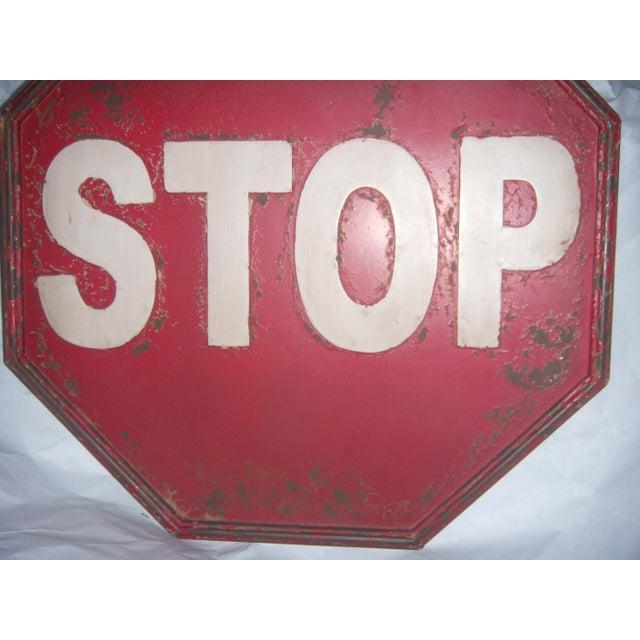 "Tin Retro ""STOP"" Sign - Image 4 of 5"