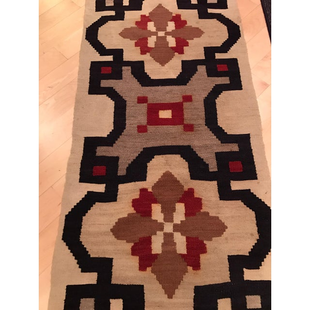 Vintage Woven Kilim Aztec Throw Rug or Wall Hanging - 1′12″ × 4′4″ - Image 6 of 7