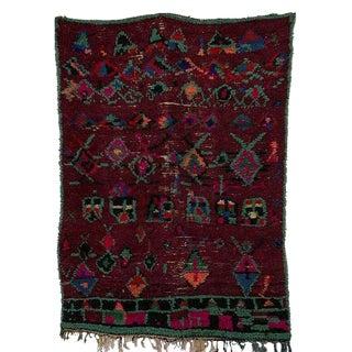 Vintage Moroccan Azilal Carpet - 4′3″ × 5′