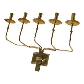 Parzinger Brass Candelabra Sconce