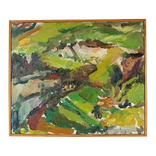 Jack Freeman Abstracted Green Landscape 2009