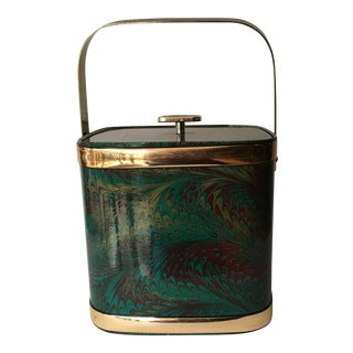 Culver Marbleized Ice Bucket