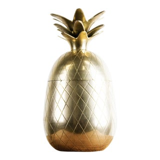 1970s Vintage Brass Pineapple