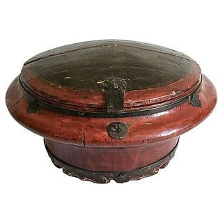 Antique Chinese Painted Grain Container