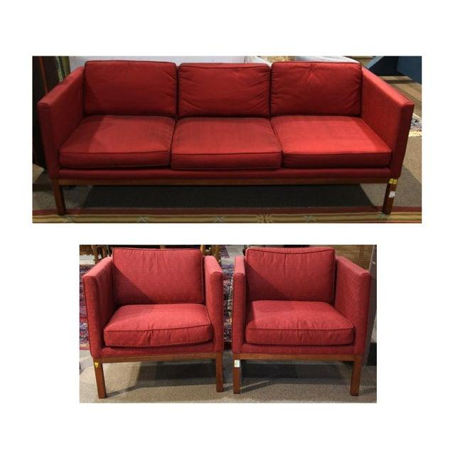 Mid-Century Modern Sofa & Club Chairs - Set of 3 - Image 6 of 6