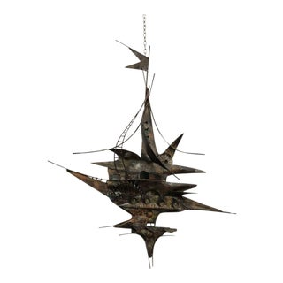 Curtis Jere Brutalist Metal Sculpture