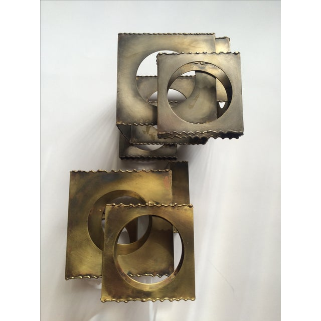 Tom Greene Brass Sculpture Candleholders - A Pair - Image 2 of 6