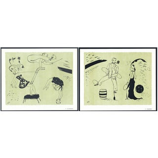 1944 Lithographs - Circus: # 21 & 31 - A Pair