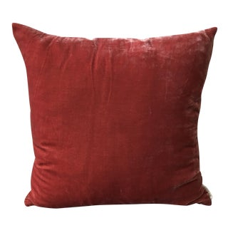 Rust Red Velvet Pillow