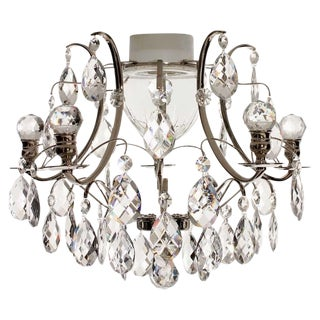 Baroque Nickel Almond Ball Bathroom Chandelier