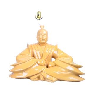 Meditating Ceramic Buddha Table Lamp