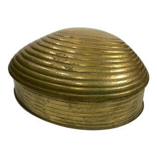 Clam Shell Formed Brass Box
