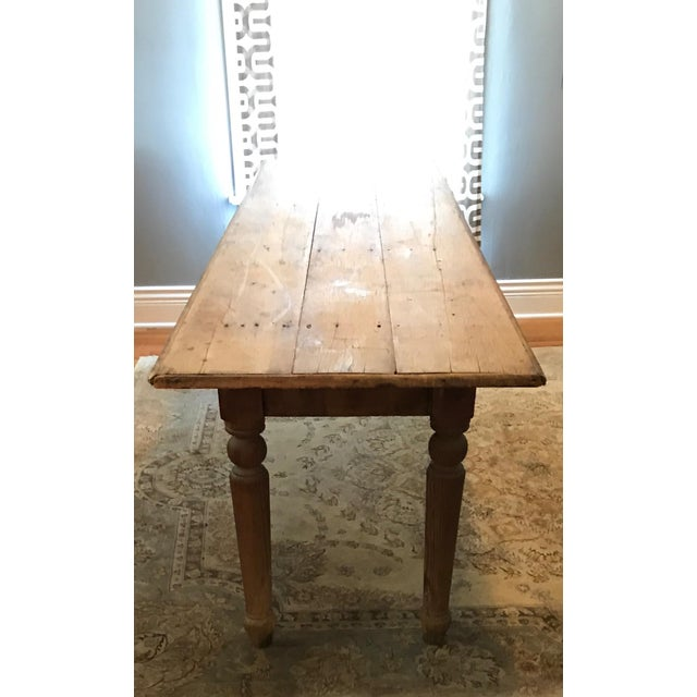 Antique Farmhouse Dining Table - Image 5 of 10