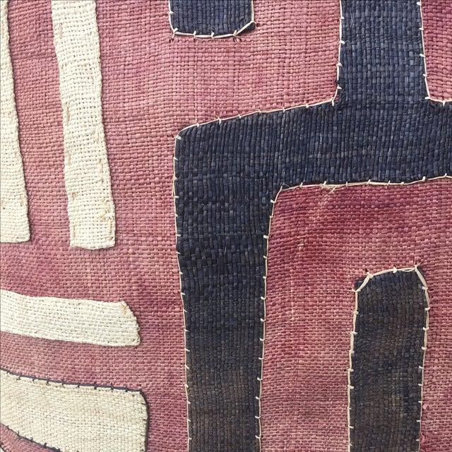 African Kuba Cloth Pillows - A Pair - Image 3 of 5