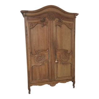 French Carved Marriage Armoire
