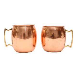 Copper Moscow Mule Mugs - A Pair