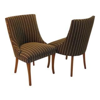 Sleek Tailored 40's Slipper Side Chairs
