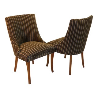 Sleek Tailored 40's Slipper Side Chairs