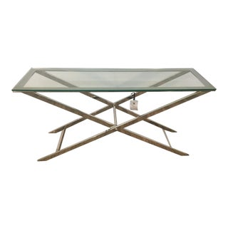 Soho Console Table Glass and Metal