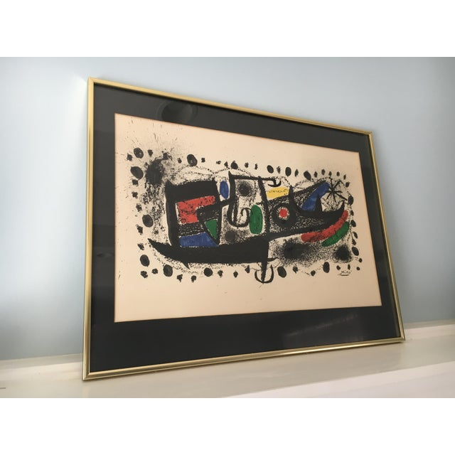 "Image of Joan Miro Mid-Century ""Star Scene"" Signed Original Lithograph"