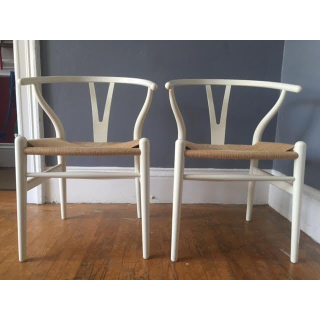 Hans Wegner Wishbone Chairs- A Pair - Image 3 of 5
