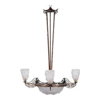1930s French Art Deco Chandelier