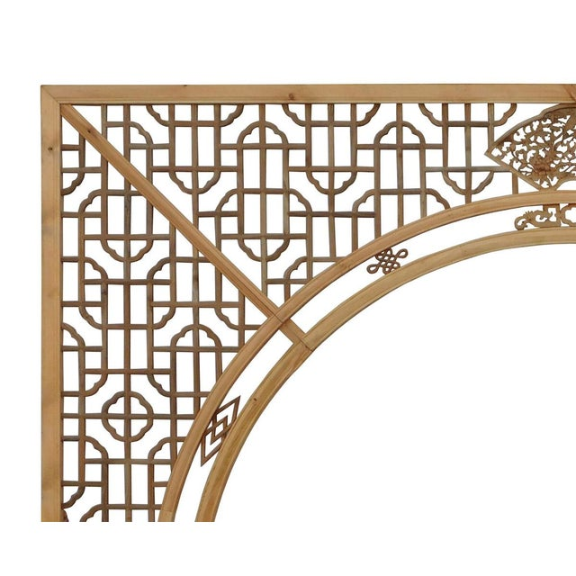 Chinese Arch-Shaped Wooden Panels - Set of 3 - Image 4 of 9
