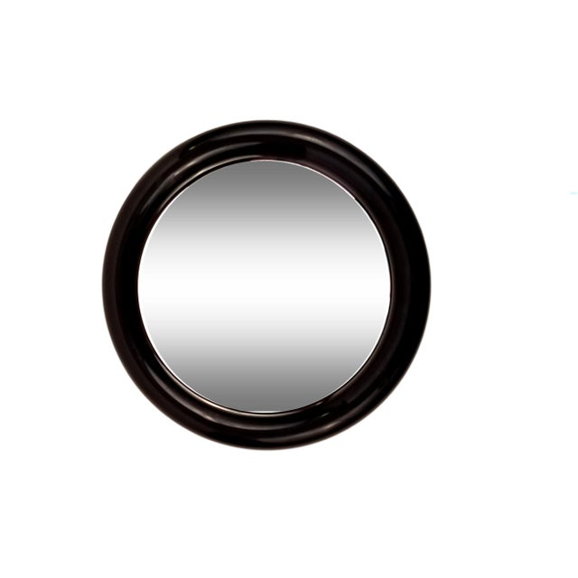 Image of Interdesign Mod Black Plastic Round Mirror