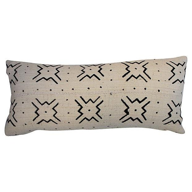 Image of Mali Tribal Mud Cloth Pillows - A Pair
