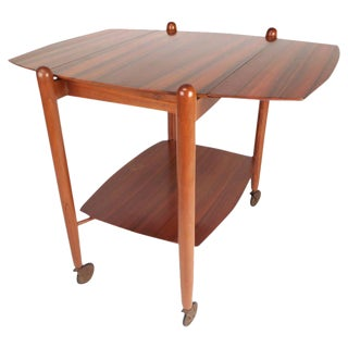 Vanson Mid-Century Drop-Leaf Bar Cart